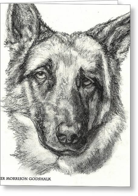 German Shepherd Sketch No.1 Greeting Card