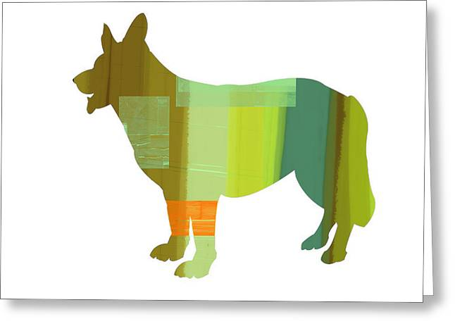 German Sheppard 1 Greeting Card by Naxart Studio