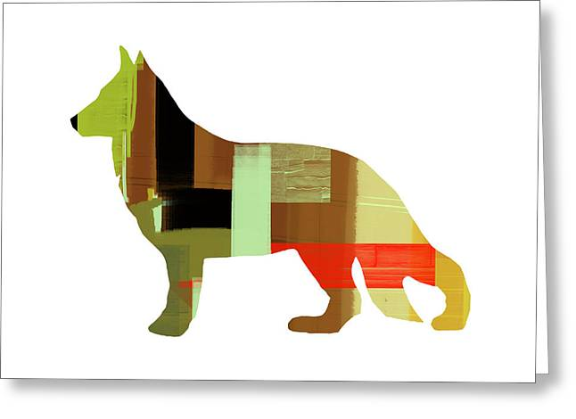 German Sheppard 2 Greeting Card by Naxart Studio