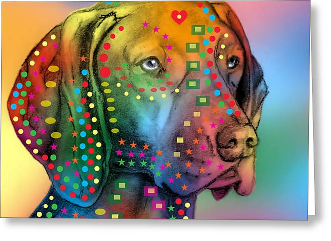 German Shorthair Pointer Greeting Card by Mark Ashkenazi