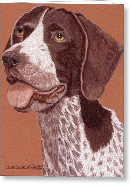 German Shorthair Pointer Vignette Greeting Card