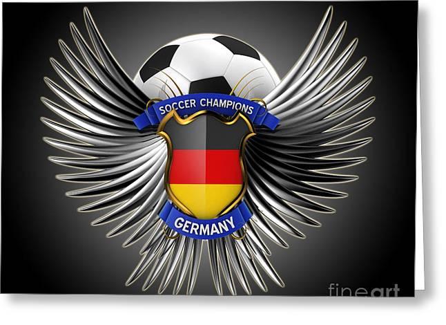 German Soccer Champions Greeting Card