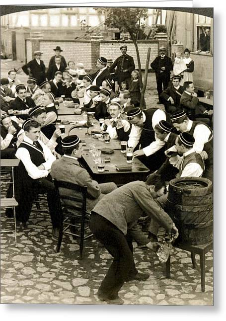 German Students Drinking Beer Greeting Card