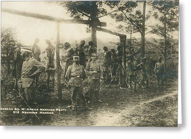 German Sw Africa Executions Greeting Card