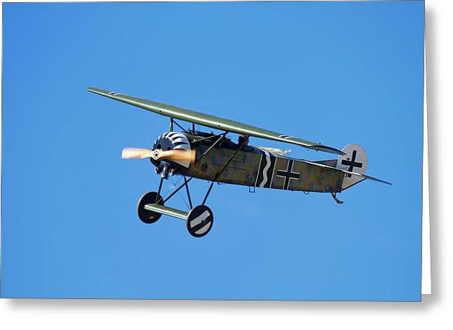 German Wwi Fokker D-8 Fighter Plane Greeting Card by David Wall