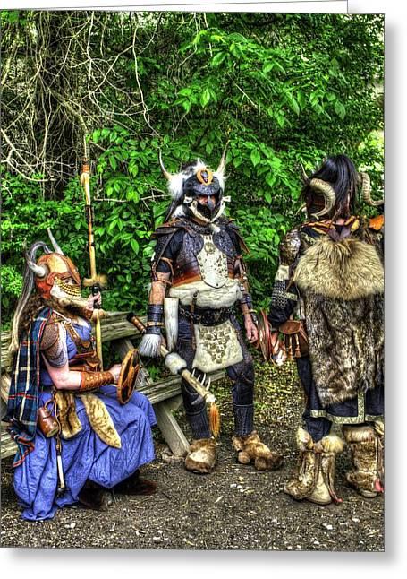 Germanics Barbarian Knights V1 Greeting Card