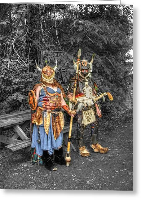 Germanics Barbarian Knights V2 Greeting Card