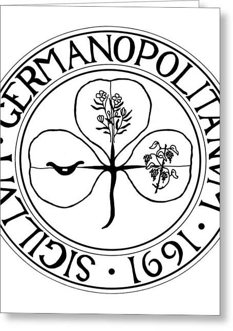 Germantown Seal, 1691 Greeting Card by Granger