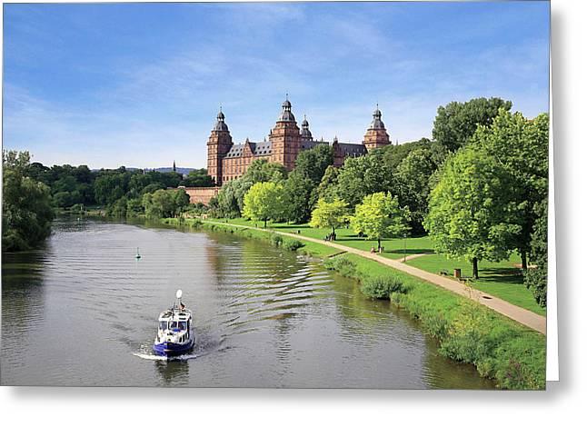 Germany, Aschaffenburg, Schloss (castle Greeting Card