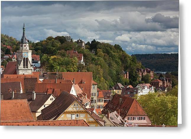 Germany, Baden-wurttemburg, Tubingen Greeting Card