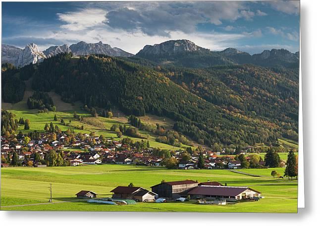 Germany, Bavaria, Berghof, Alpine Greeting Card