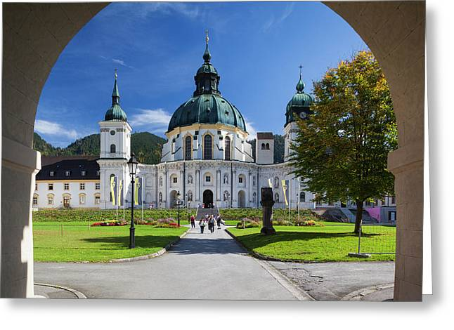 Germany, Bavaria, Ettal, Kloster Ettal Greeting Card