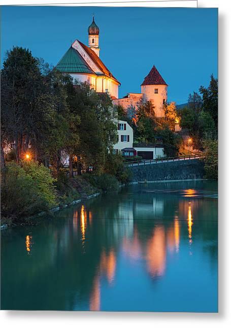 Germany, Bavaria, Fussen, Franciscan Greeting Card