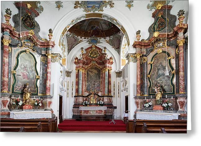 Germany, Bavaria, Fussen, Heilige Geist Greeting Card by Walter Bibikow