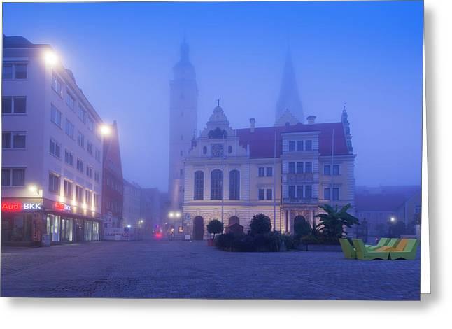 Germany, Bavaria, Ingolstadt, Old Town Greeting Card