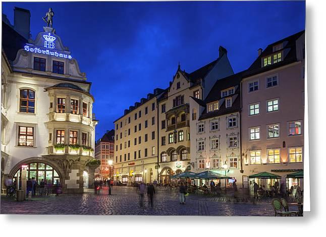 Germany, Bavaria, Munich, Hofbrauhaus Greeting Card