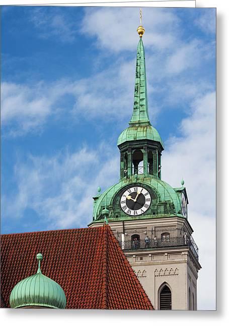 Germany, Bavaria, Munich, Peterskirche Greeting Card