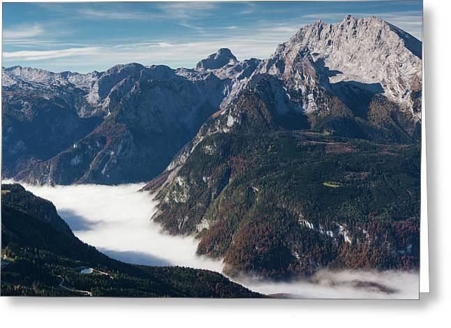 Germany, Bavaria, Obersalzberg, Alpine Greeting Card