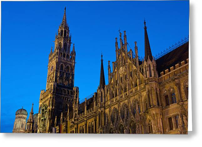 Germany, Bavaria, Rathaus Greeting Card by Ian Cumming