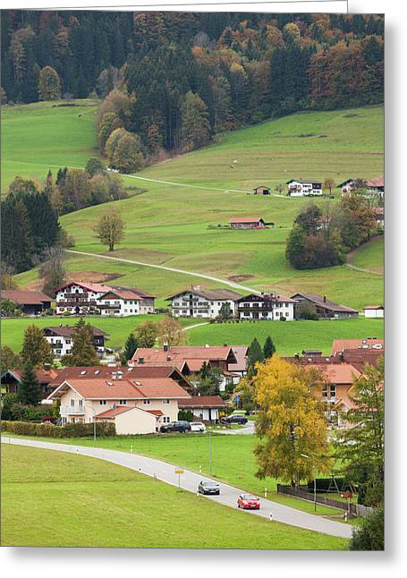 Germany, Bavaria, Ruhpolding, Town Greeting Card