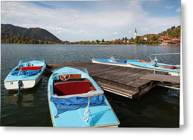 Germany, Bavaria, Schliersee Lake Greeting Card by Walter Bibikow