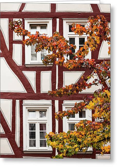 Germany, Hesse, Wetzlar, Half-timbered Greeting Card