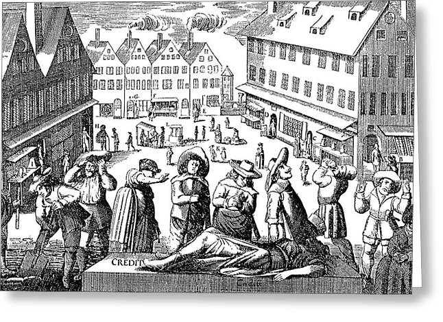 Germany Merchants, 1637 Greeting Card by Granger