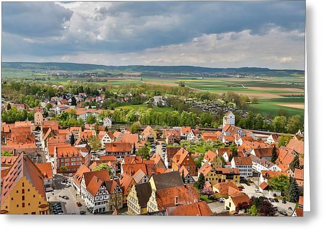 Germany, Nordlingen, View Of Nordlingen Greeting Card