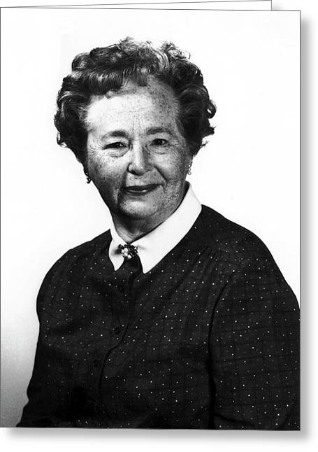 Gertrude Elion Greeting Card by National Cancer Institute