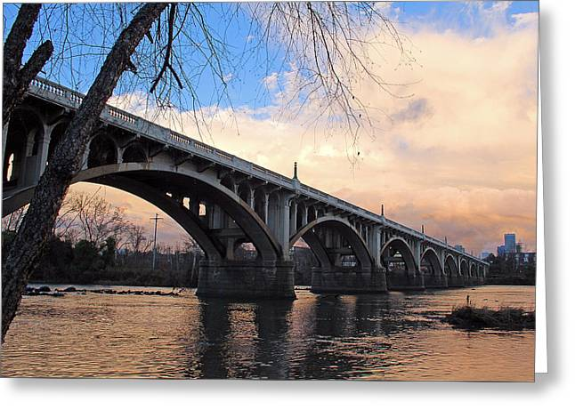 Gervais Street Bridge Greeting Card