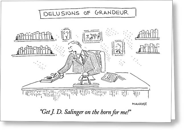 Get J. D. Salinger On The Horn For Me! Greeting Card