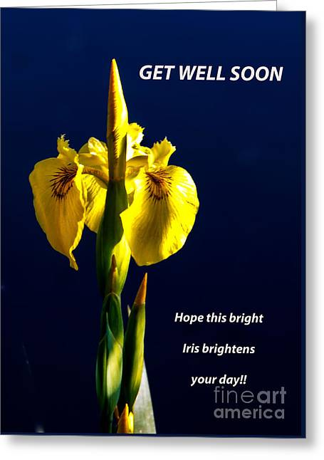 Get Well Soon Greeting Card by Robert Bales