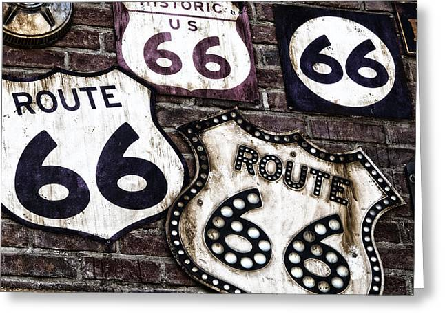 Get Your Kicks On Route 66  Greeting Card by Carter Jones
