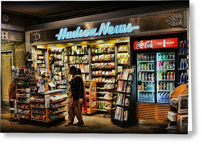 Get Your News Here Greeting Card by Lee Dos Santos