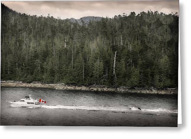 Greeting Card featuring the photograph Getting A Tow In Canada by Davina Washington