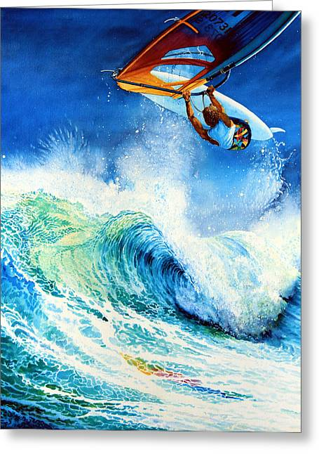 Getting Air Greeting Card by Hanne Lore Koehler