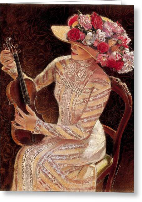 Getting In Tune Greeting Card by Sue Halstenberg