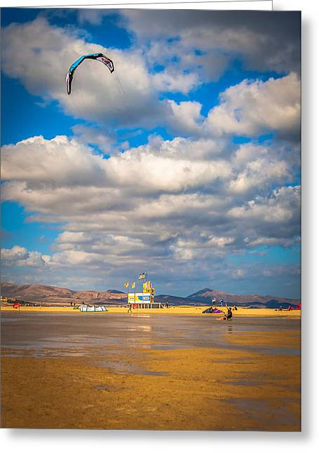 Getting Kite Lessons Greeting Card by Julis Simo