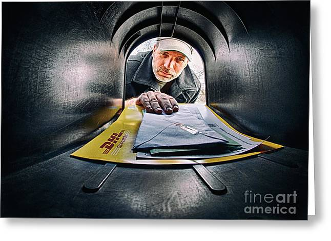 Getting The Mail Greeting Card by Mark Miller