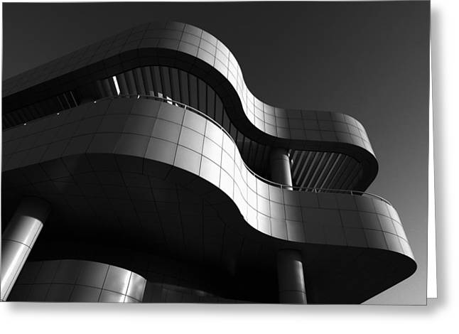 Greeting Card featuring the photograph Getty Center by Yue Wang