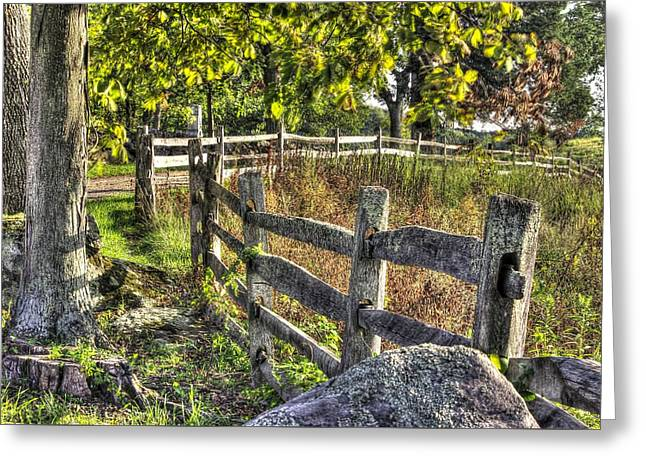 Greeting Card featuring the photograph Gettysburg At Rest - Late Summer Along The J. Weikert Farm Lane by Michael Mazaika
