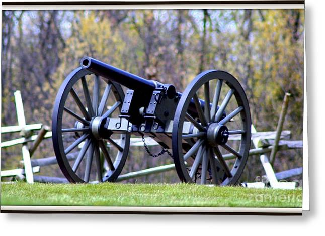 Greeting Card featuring the photograph Gettysburg Battlefield Cannon by Patti Whitten