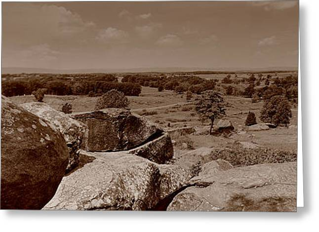 Greeting Card featuring the photograph Gettysburg From Little Round Top by Nigel Fletcher-Jones