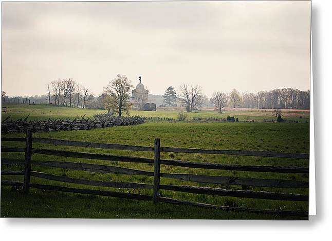 Gettysburg Morning Greeting Card by Allison Marie