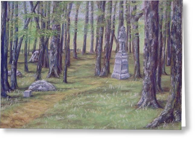 Gettysburg Pathway Greeting Card by Joann Renner