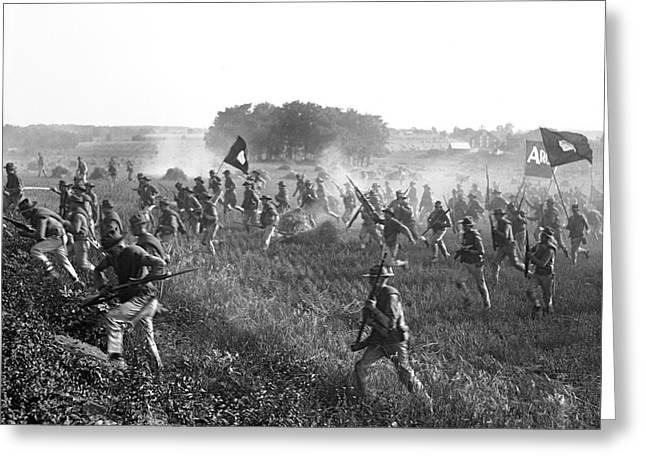 Gettysburg Reenactment Greeting Card by Harris & Ewing