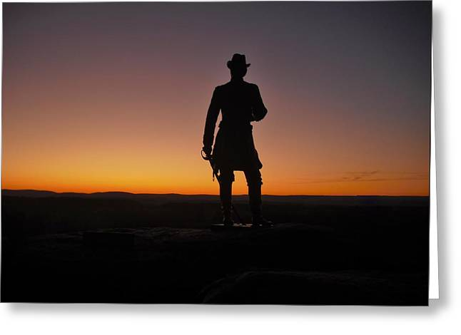 Greeting Card featuring the photograph Gettysburg Sunset by Ed Sweeney