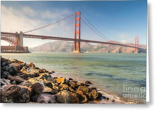 Greeting Card featuring the photograph Gg Bridge  by Charles Garcia