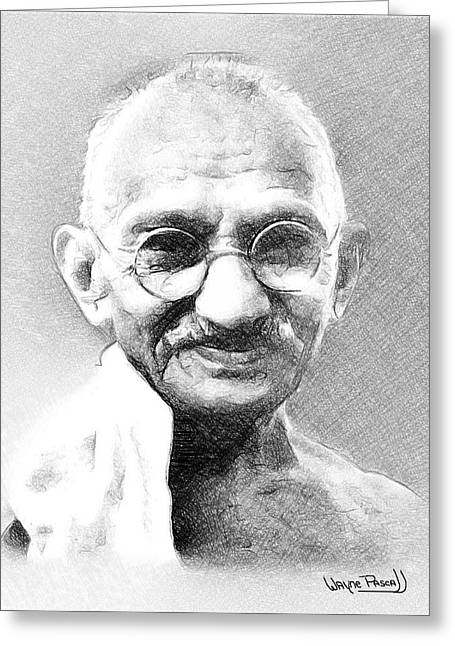 Ghandi Greeting Card