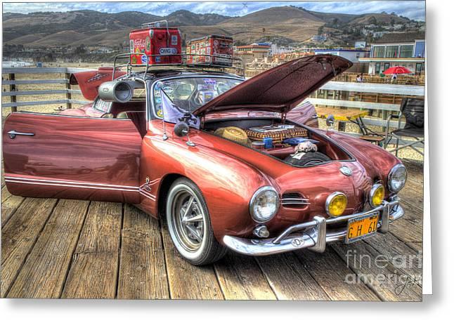 Ghia On Vacation Greeting Card